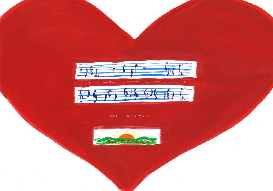 KE092 Ave Maria Heart